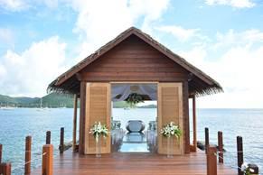 Unique Wedding Venue -  Sandals Grande St. Lucian Overwater Serenity Wedding Chapel 2