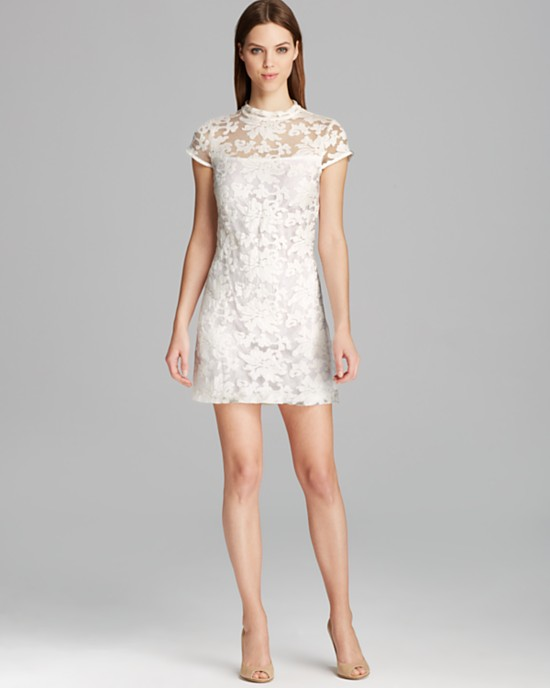 10 Short Little White Dresses To Wear Your Wedding Reception 5