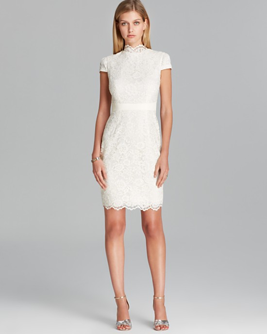 10 Short Little White Dresses To Wear Your Wedding Reception 9