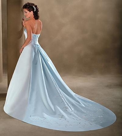 wedding dresses with blue your something blue can now be your wedding dress blue 9432
